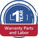 1 year warranty parts & labor on appliance repair